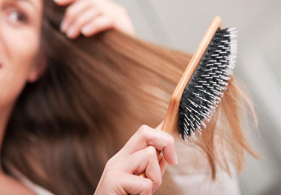 svinebørste til hår