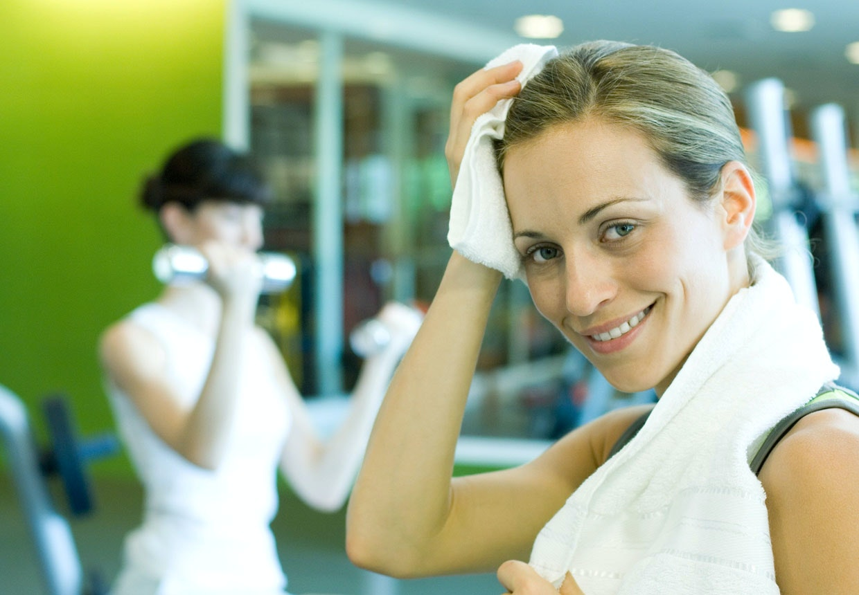 svettas extremt mycket vid träning