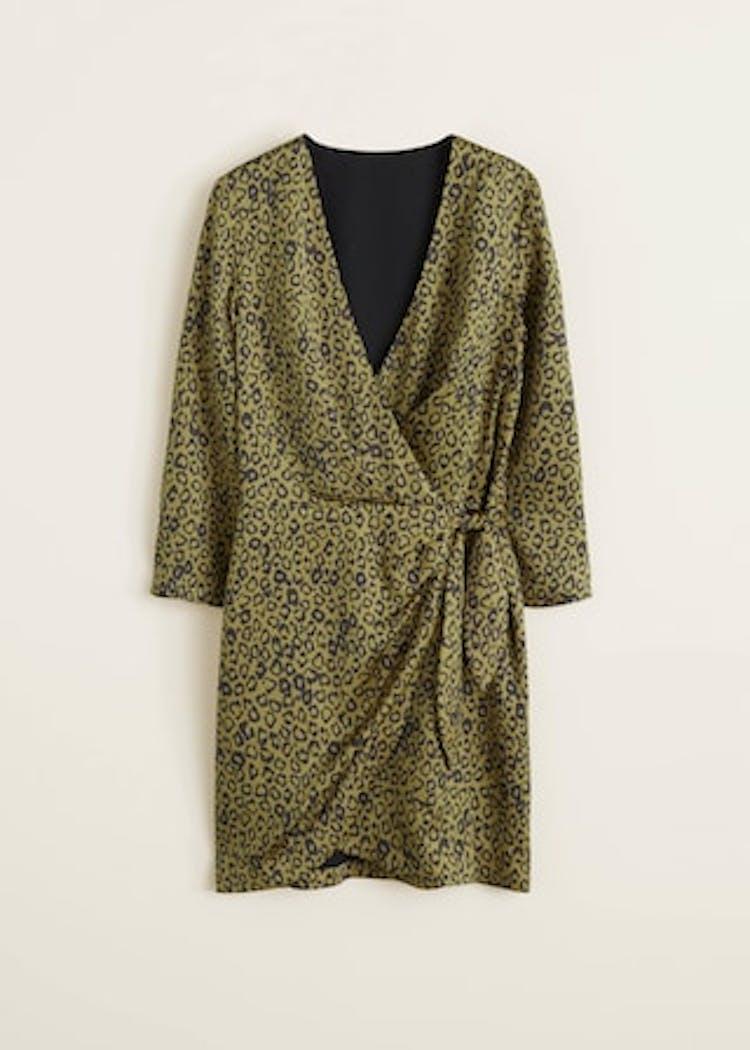 e2e1cfaf169 Slå-om-kjole fra Mango med leopardprint til bryllup