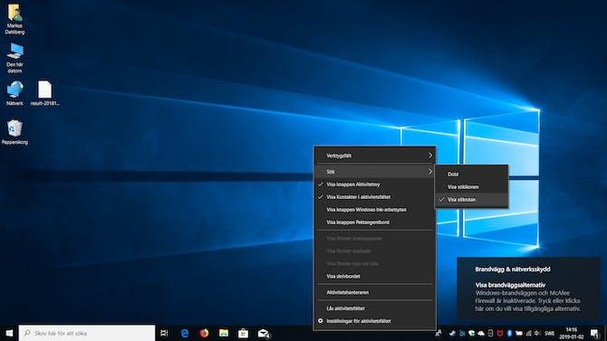 Personligt Aktivitetsfält i Windows 10  f7847f1ab068e