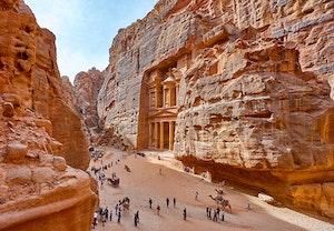 Al khasneh farun faraos skatt kammare petra klippstaden wjwata litav5 s7crmysa