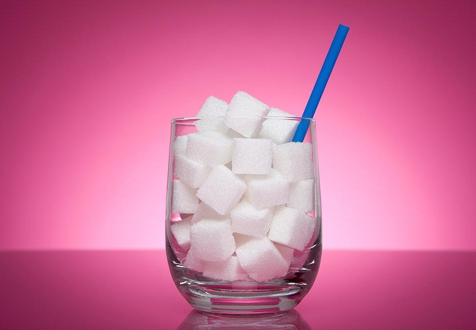 for meget sukker i kroppen