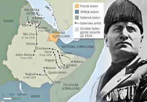 Andra abessinienkriget 1935 1936 karta och mussolini okgu27rxkppzkhijrxa sq