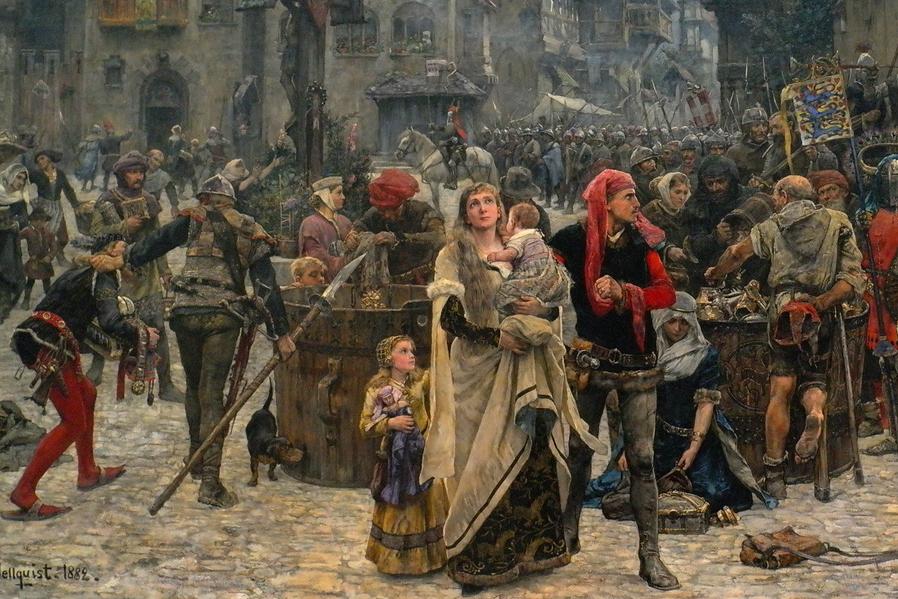middelalderen krig