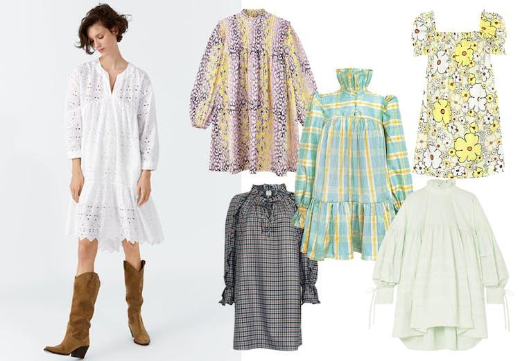 1ff3242b Med sin korte længde og voluminøse snit er sæsonens populære babydoll-kjole  et alsidigt design, der både går til hverdag og fest, er ideelt i  sommervarmen ...