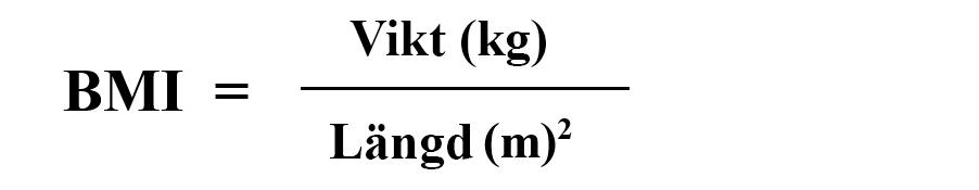 räkna ut bmi formel