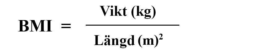 BMI-formel - BMI-räknare - så räknar du ut ditt BMI-värde