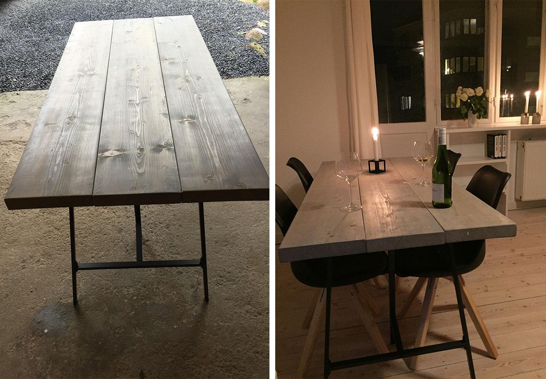 #876244 Meget bedømt Lav Dit Eget Rustikke Plankebord Boligmagasinet.dk Gør Det Selv Hifi Møbel 5359 12408605359