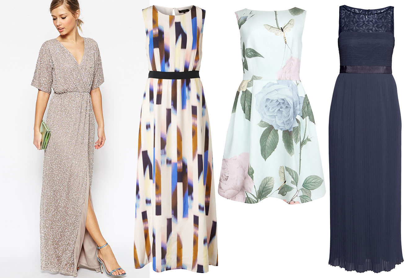 koboltblå kjole