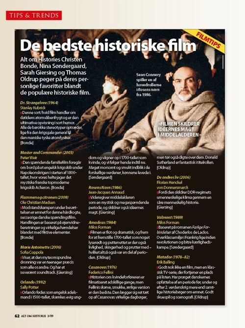 danske historiske film