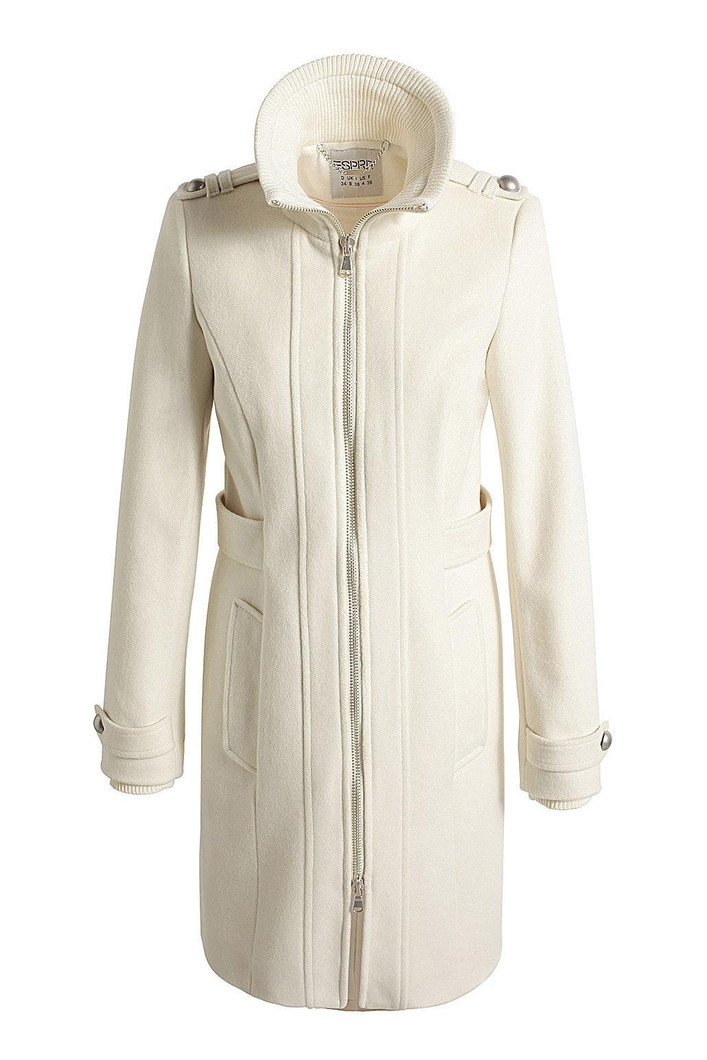 hvid uldfrakke