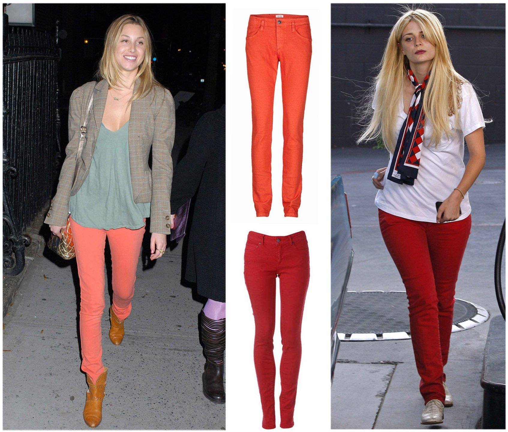 15 farvede jeans   Woman.dk