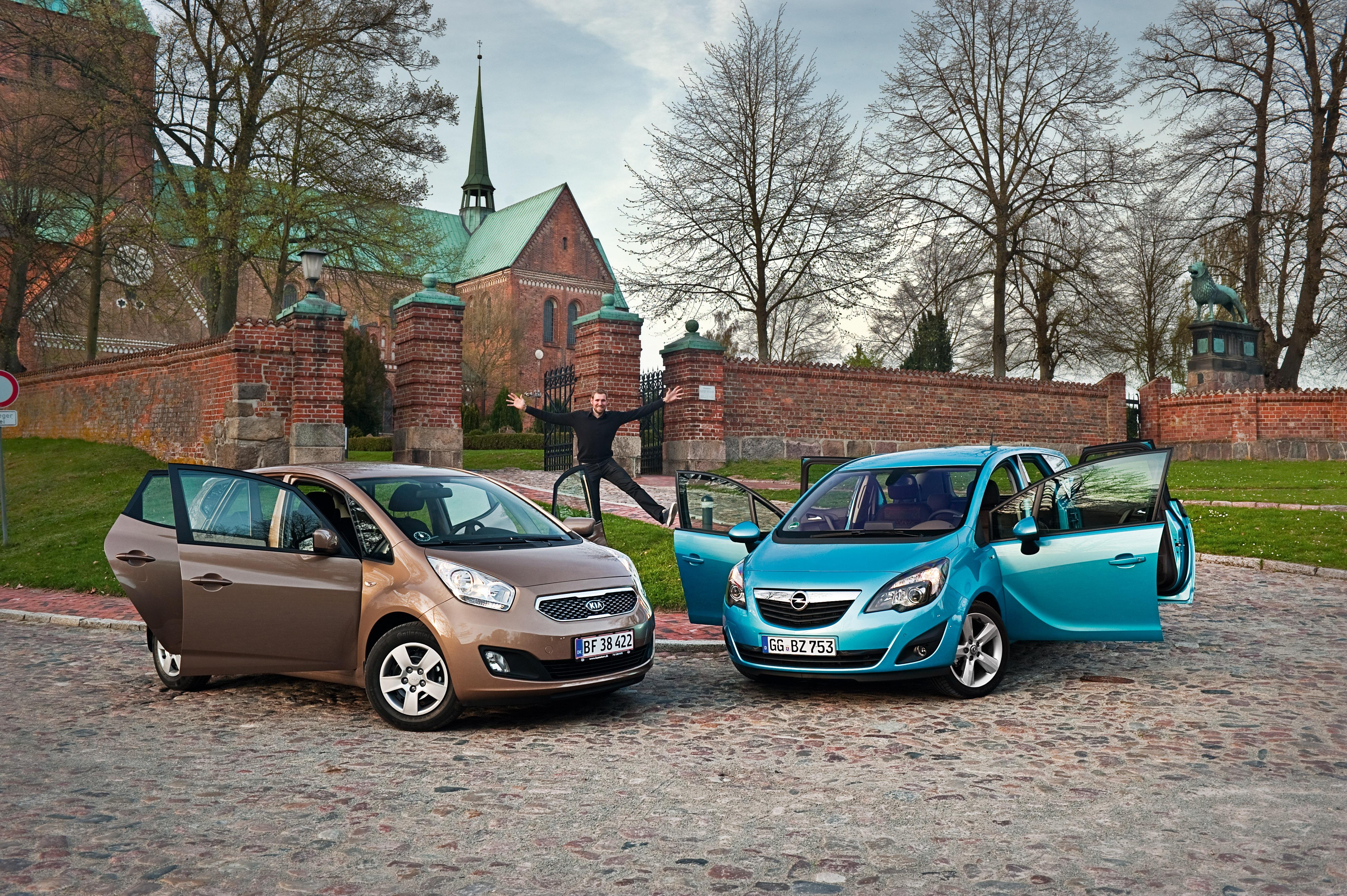 Kia Venga vs. Opel Meriva | Bilmagasinet.dk