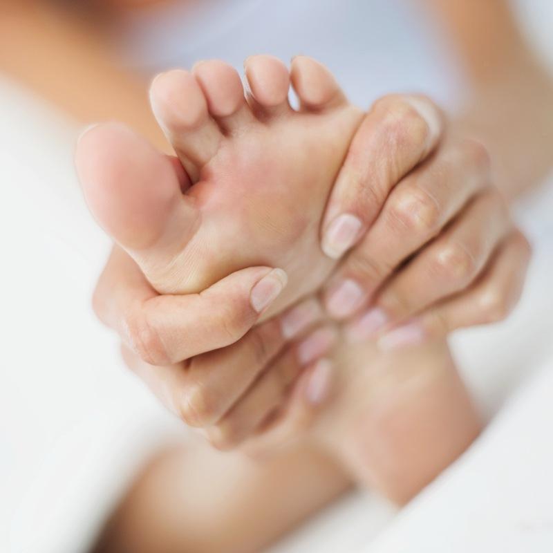 nummen under foten