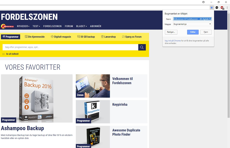 Sådan laver du bogmærker i Google Chrome | Komputer.dk