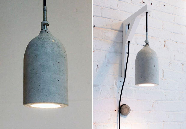 diy s dan laver du en r beton lampe. Black Bedroom Furniture Sets. Home Design Ideas