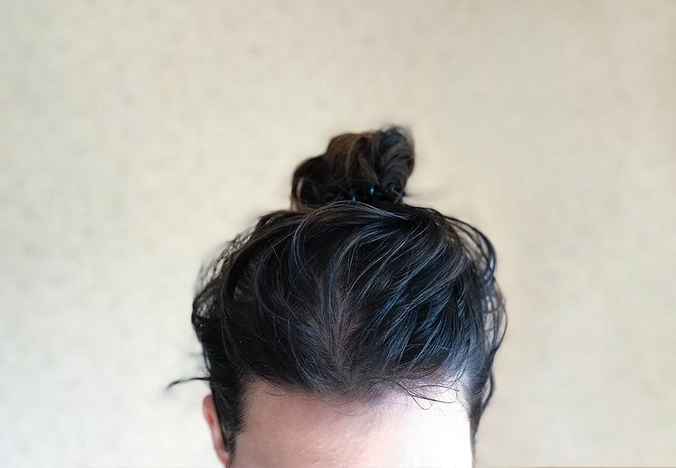 fedtet hår efter 1 dag