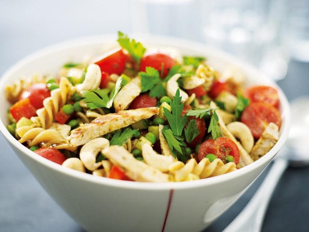 kycklingsallad pasta recept