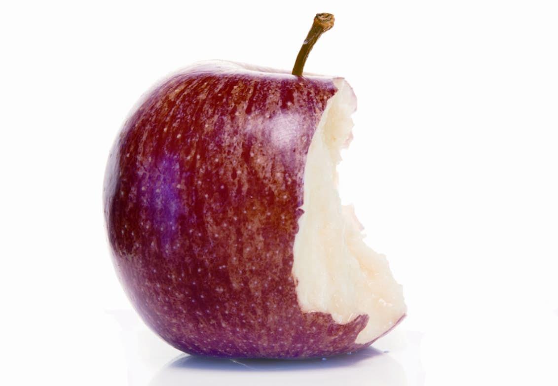 hur mycket väger ett äpple