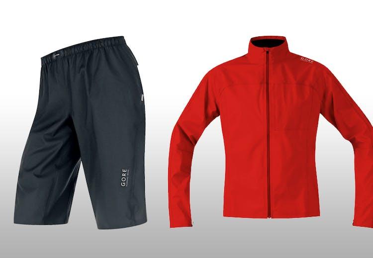 aa5f6eb7 Produktinfo Vanntett jakke og bukse i 100 % nylon med Gore-Tex Active Shell  (selges separat).Snørejustering i livet og i bukselinningen. Fås i rødt,  svart, ...