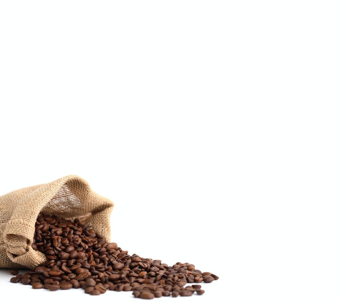 sunn mat ned i vekt grønne kaffebønner supplement