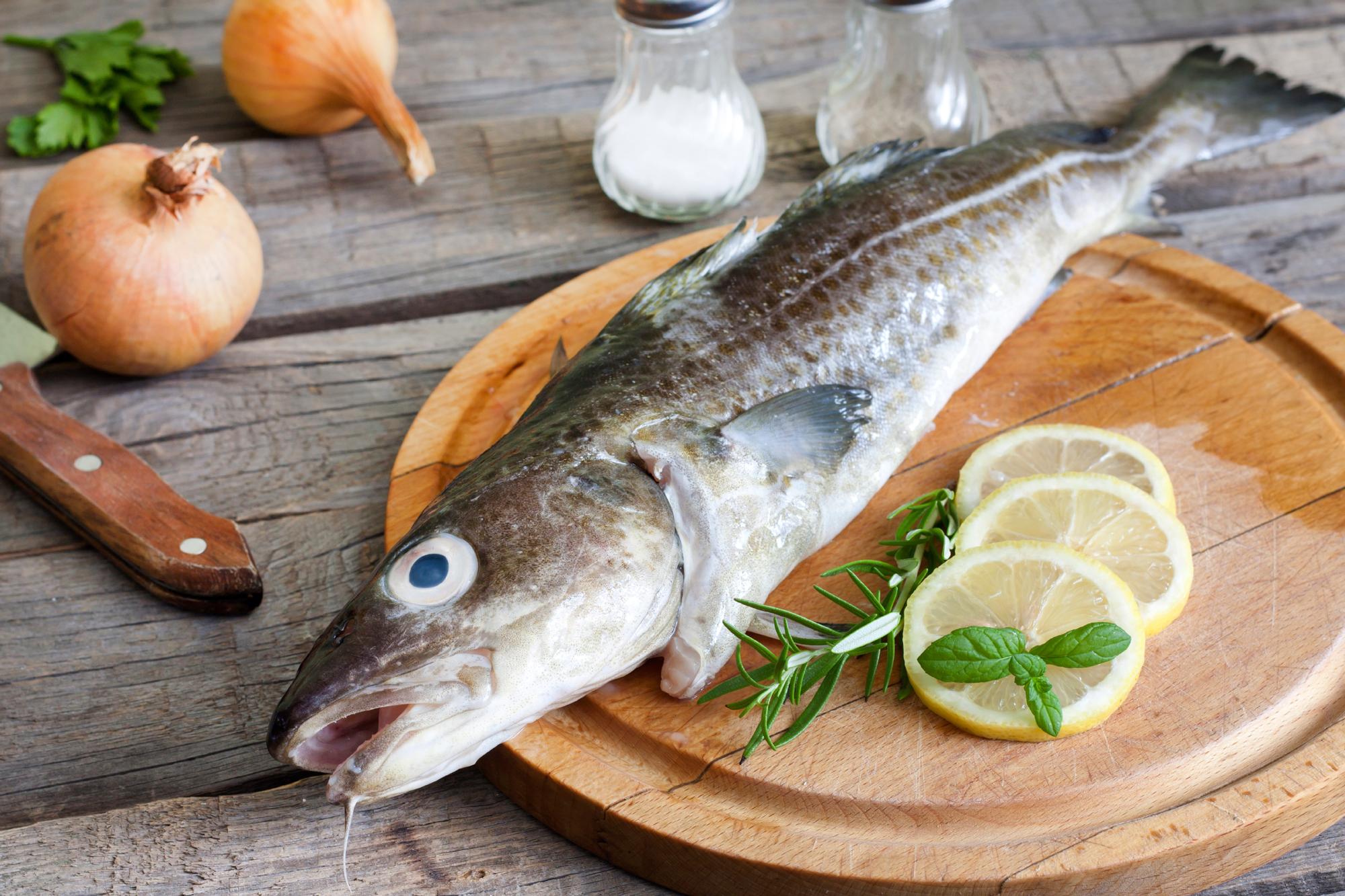 kokt torsk kalorier
