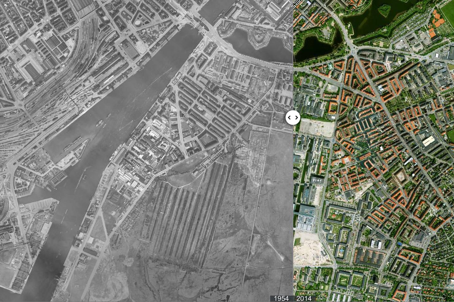 satellitbilleder af huse