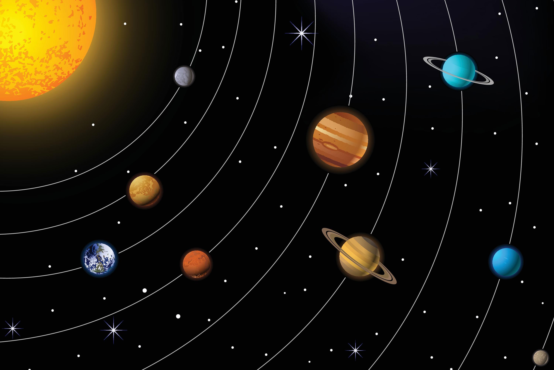 Solsystemet Gravitasjonen R 229 R Illvit No