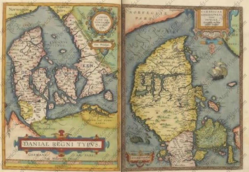Kig Pa Tudsegamle Danmarkskort Komputer Dk