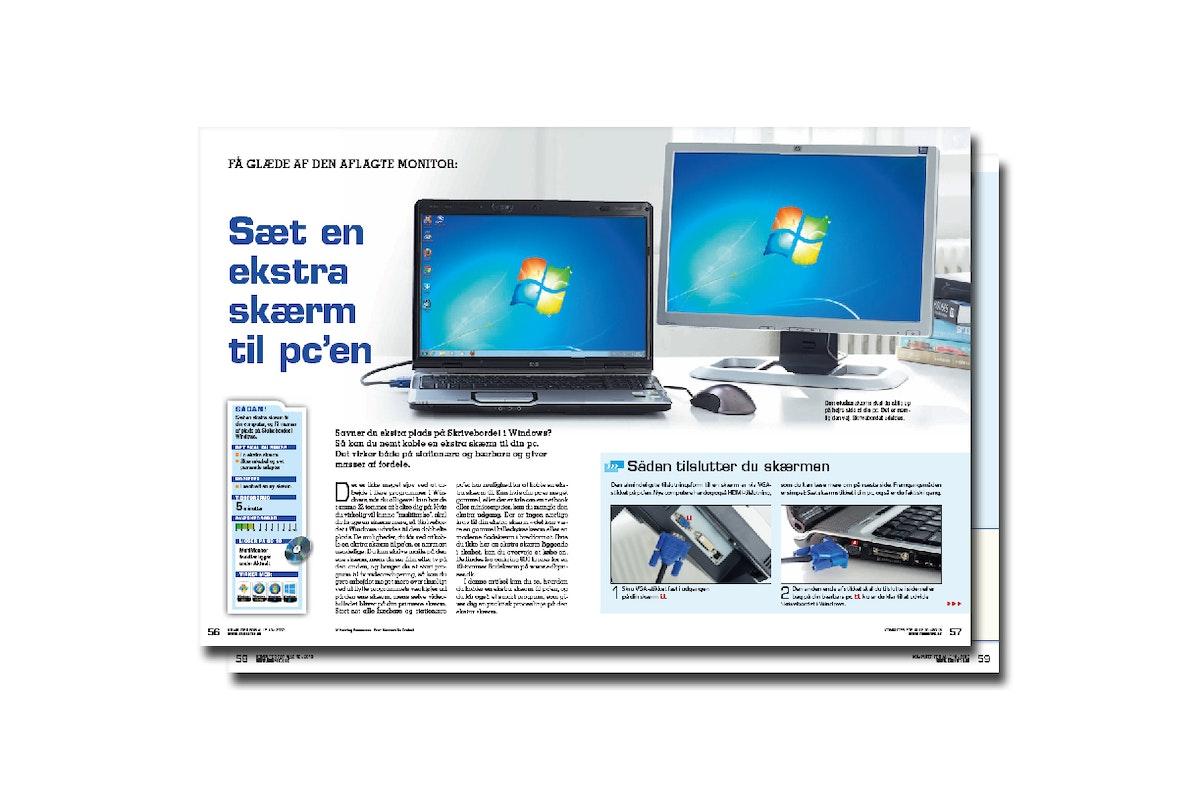 Sæt en ekstra skærm til pc'en | Komputer.dk