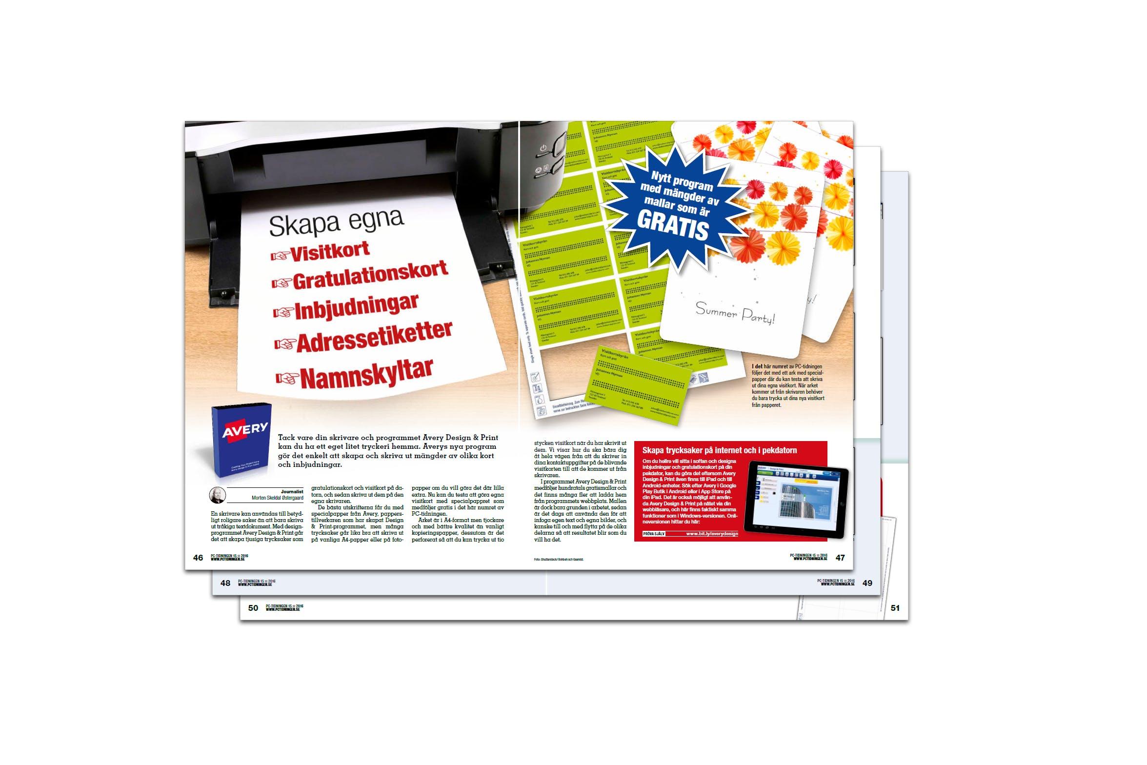 skapa egna gratulationskort Nytt program med mallar som är gratis   Pctidningen.se skapa egna gratulationskort