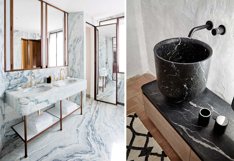 13 tips til hvordan du bruker marmor p badet bo. Black Bedroom Furniture Sets. Home Design Ideas
