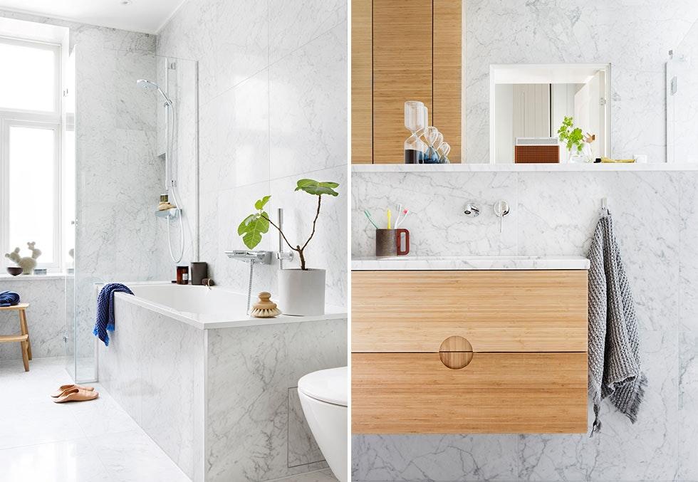todelt dr mmebad i marmor bo. Black Bedroom Furniture Sets. Home Design Ideas