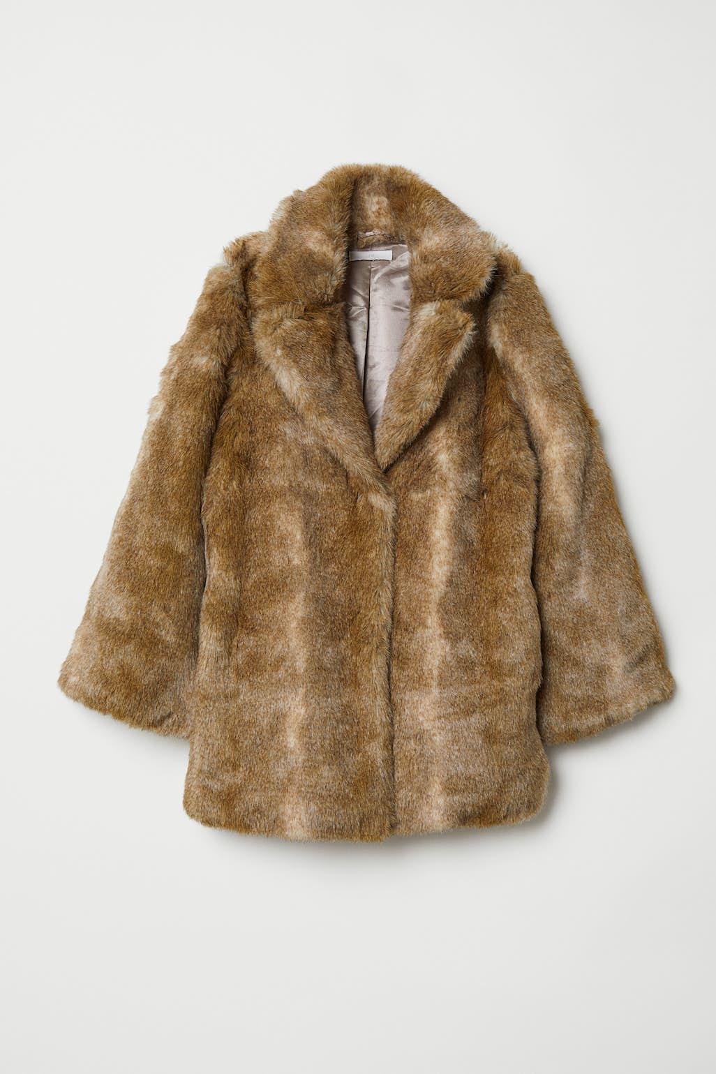 Kort jakke i fuskepels Sort DAME | H&M NO