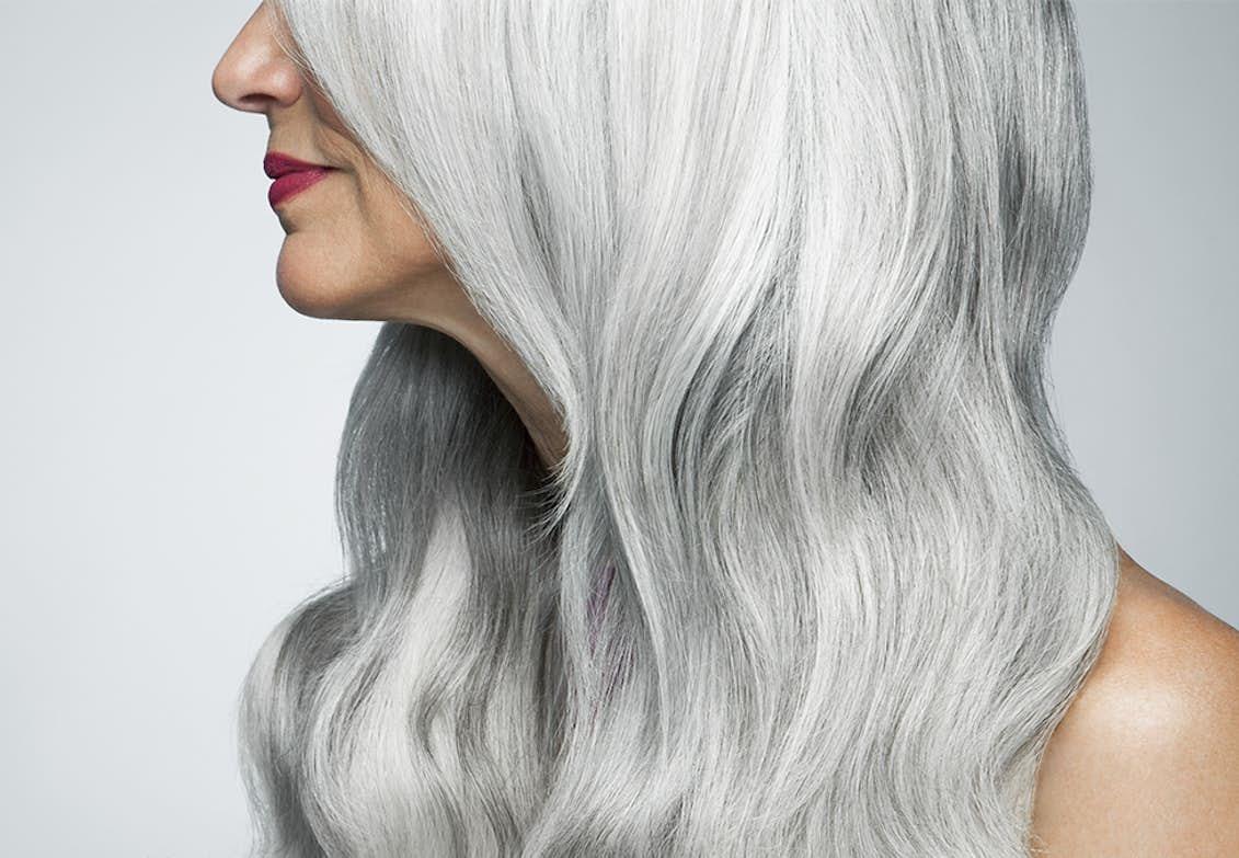 bli av med grått hår