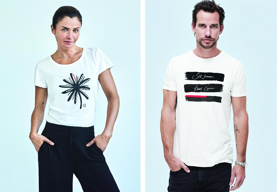 Helena Christensen designer den nye Knæk Cancer T shirt