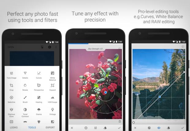 Redigera foton app