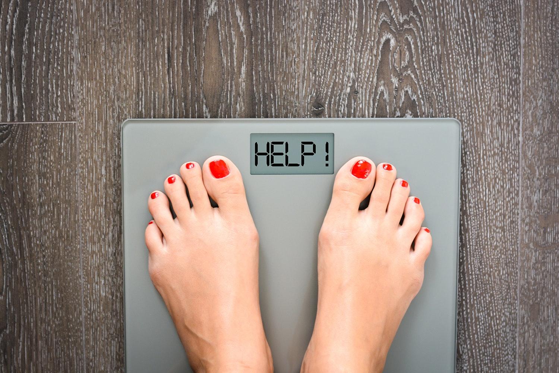 äter lite går inte ner i vikt