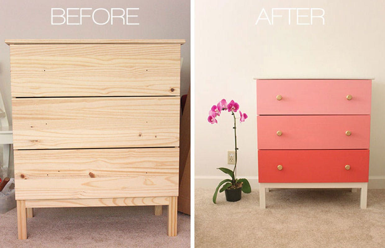 hack dine ikea m bler med maling og intet andet. Black Bedroom Furniture Sets. Home Design Ideas