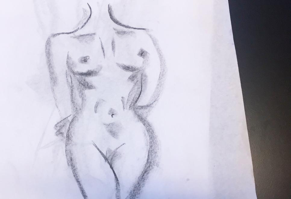 Nøgne modeller til tegning