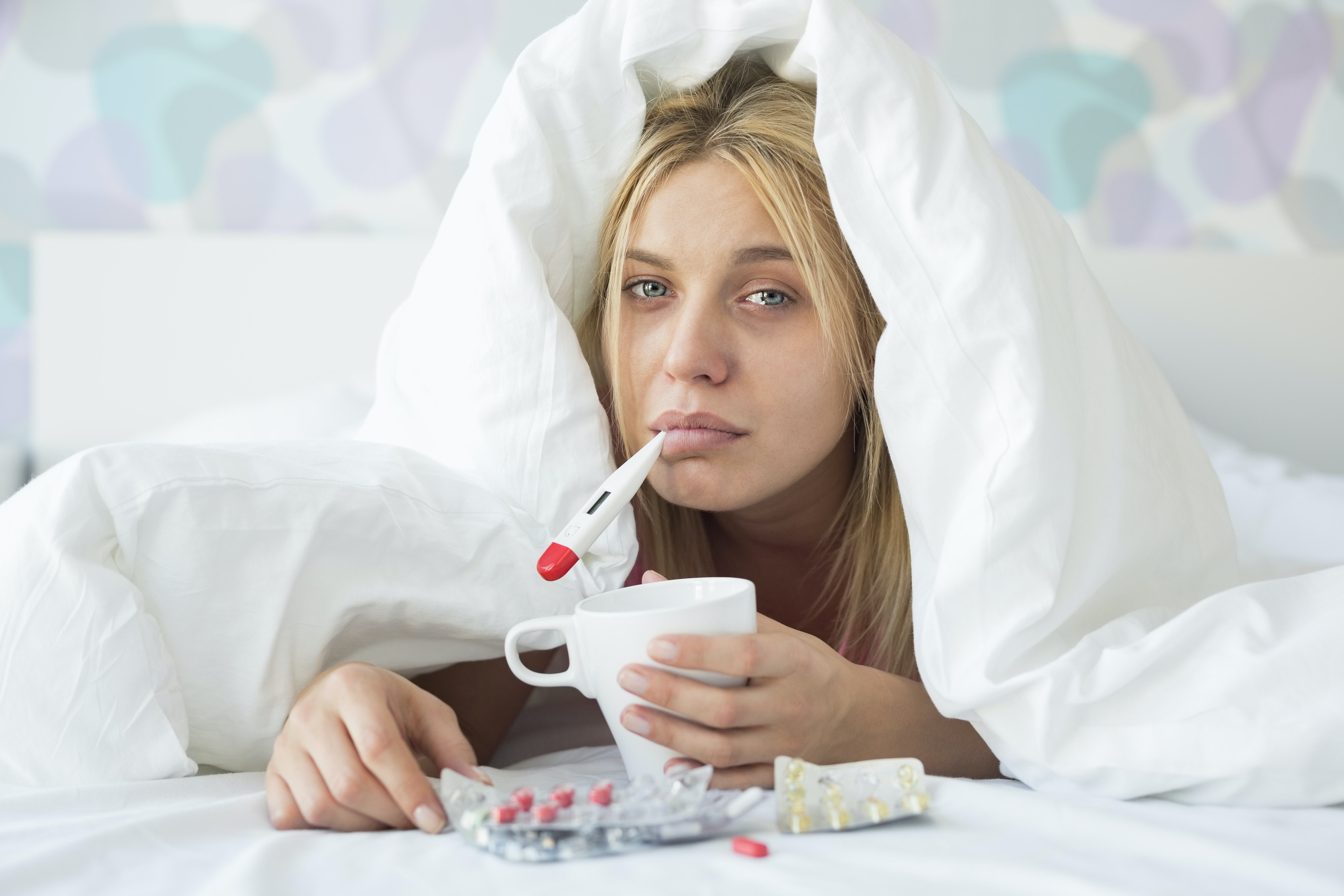 influensa ont i huvudet