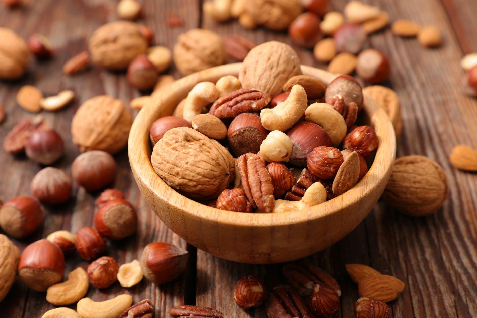 nyttiga nötter vid viktminskning
