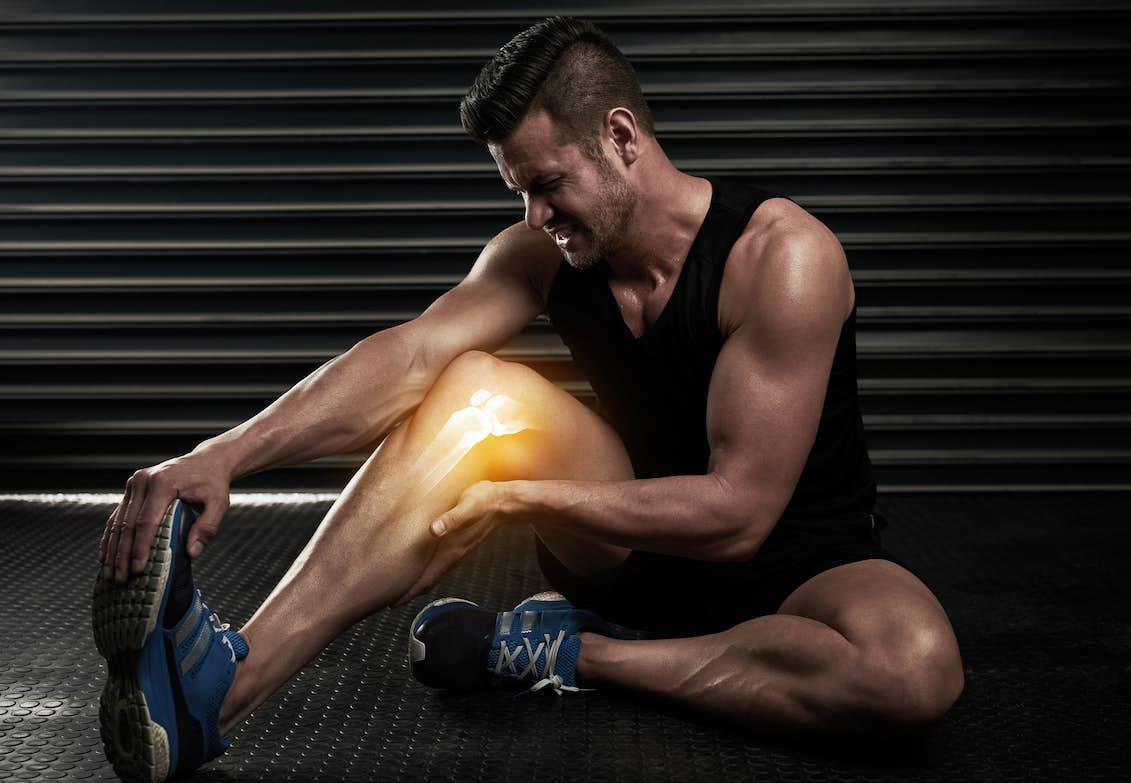 ont i vaden efter träning