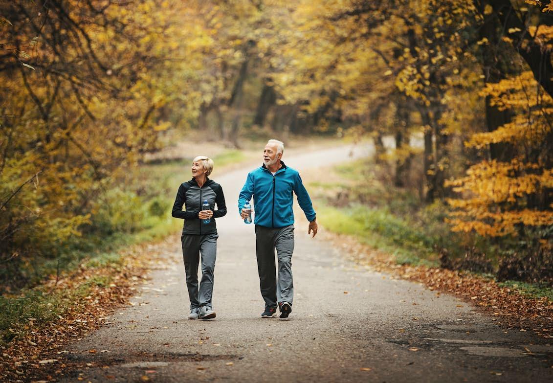 viktnedgång med promenader