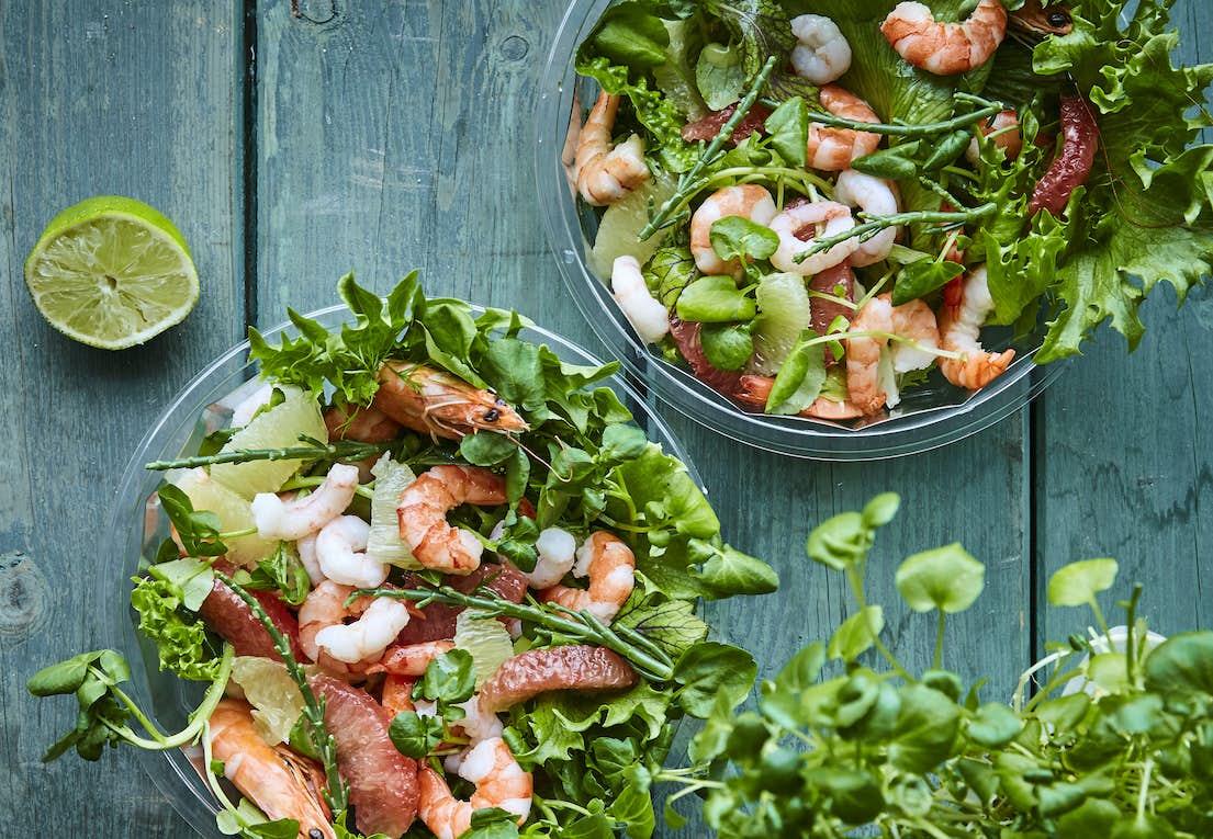 Salat Med Rejer Og Citrusfrugter Iformdk
