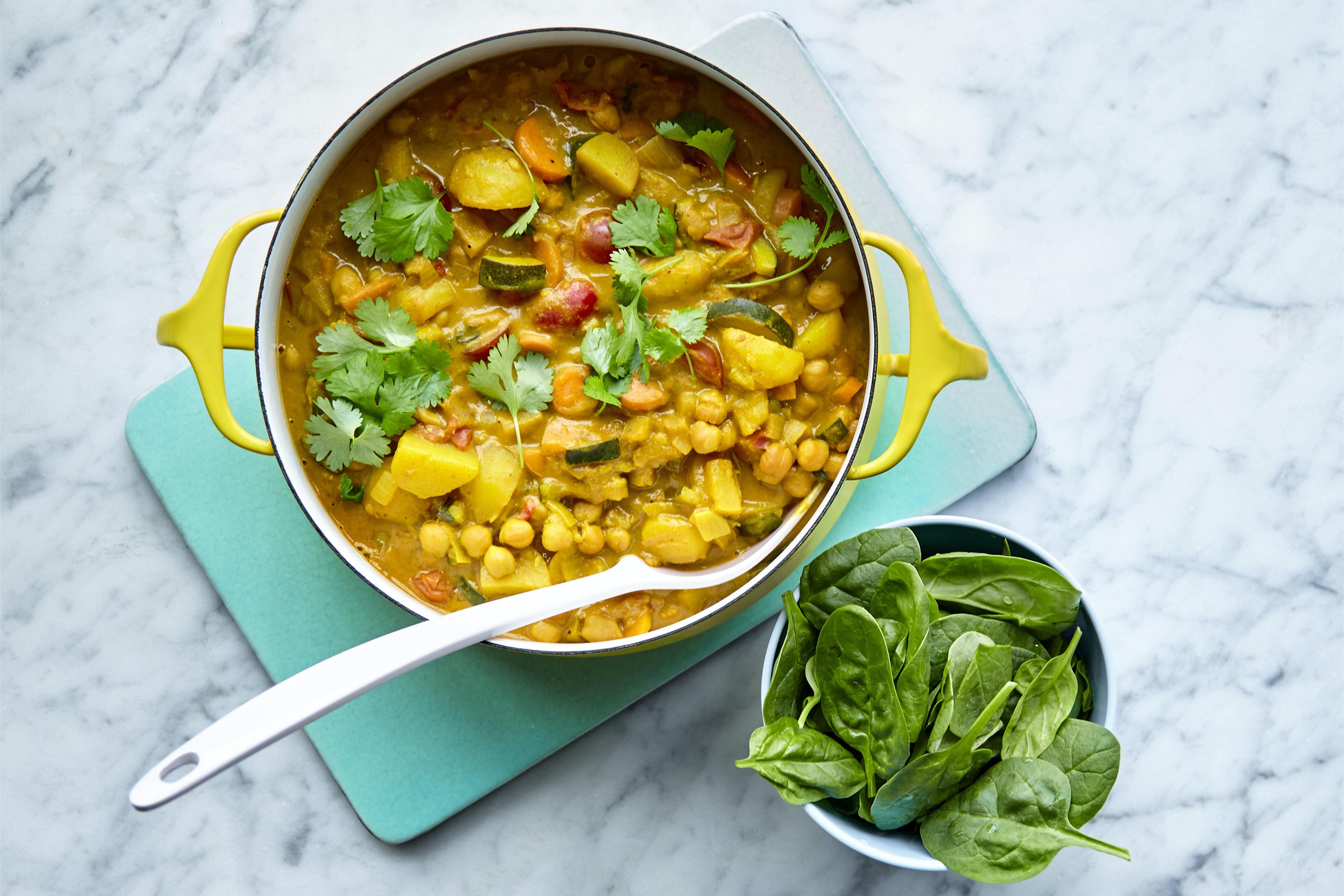 vegetarisk currygryta kikärtor