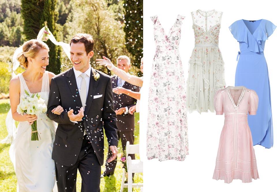 6 knaldrøde bryllupsgæst fest kjoler! METTE MARIE LEI LANGE