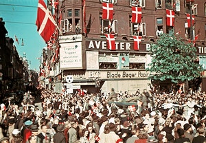 Kopenhamn befrielsen stroget 1945 mby pkhr o8vpsnhzsodew