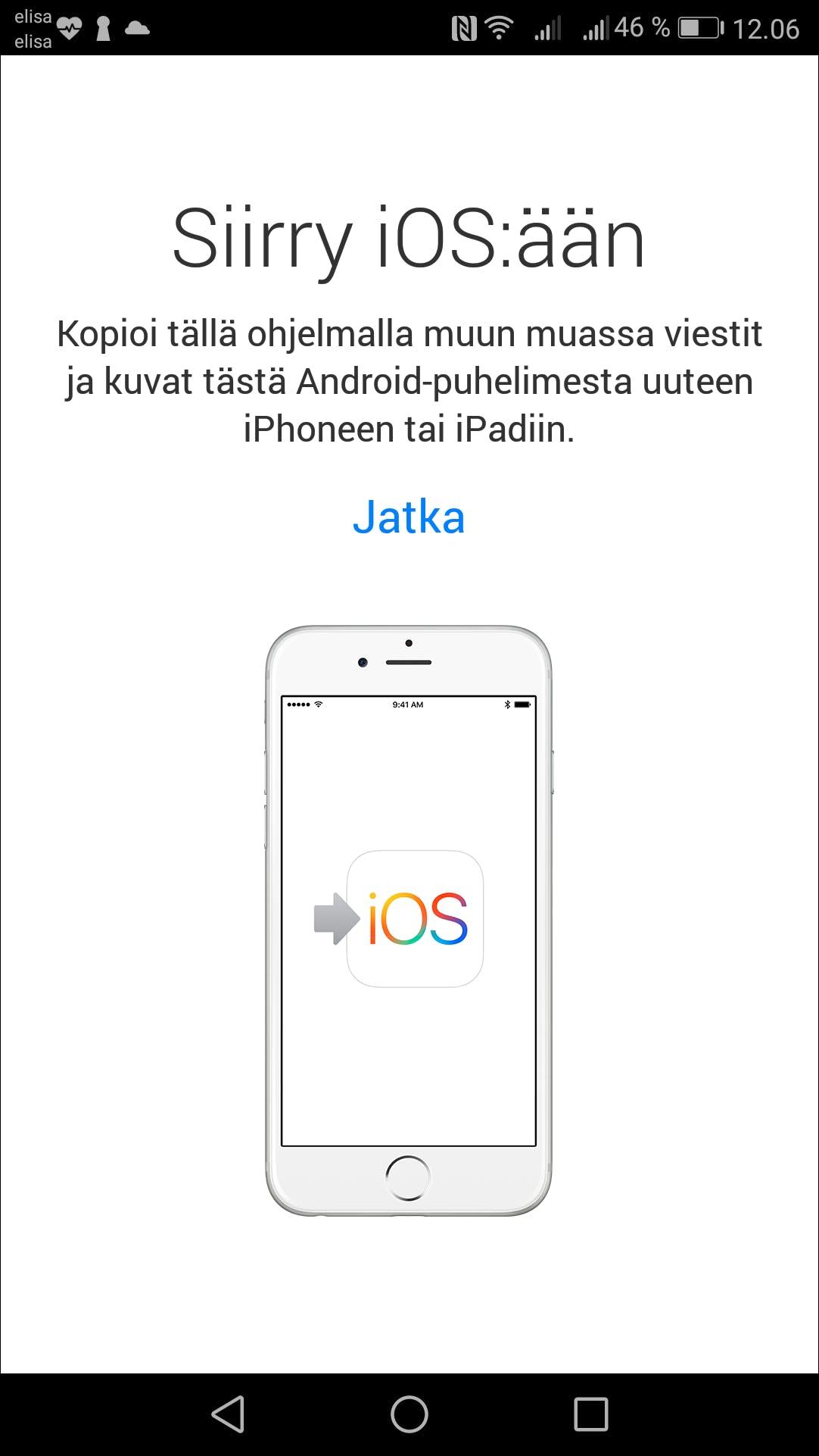 Tietojen Siirto Androidista Iphoneen