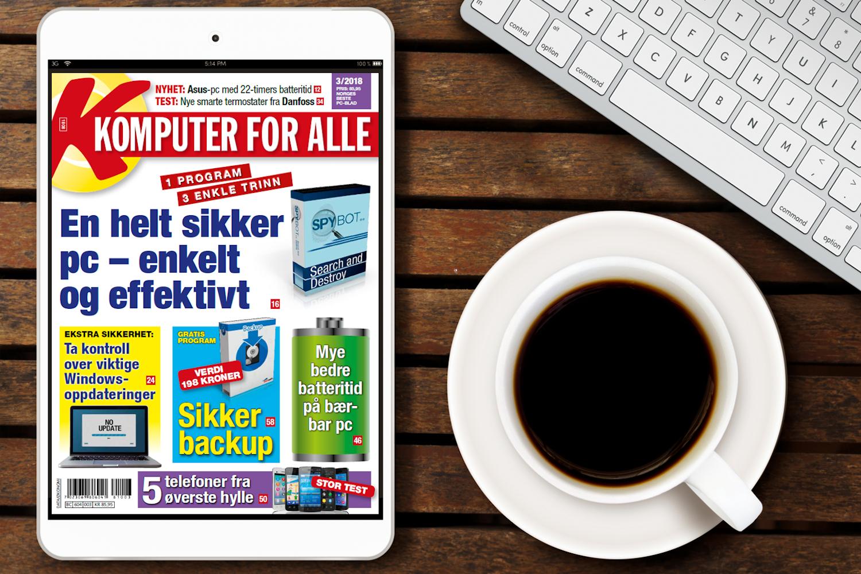 7da7bdfec Nytt blad: Få en sikker og effektiv pc | Komputer.no